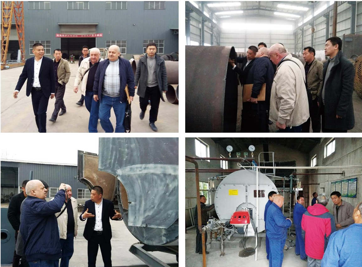 Welcome Russia Friend to visit our factory